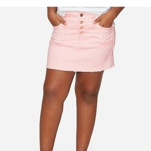 Justice Pink Destructed High Waist Skirt